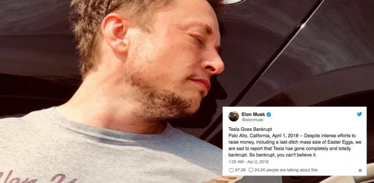 April Fool's Day jokes aren't always funny. Tesla missed the mark this year.