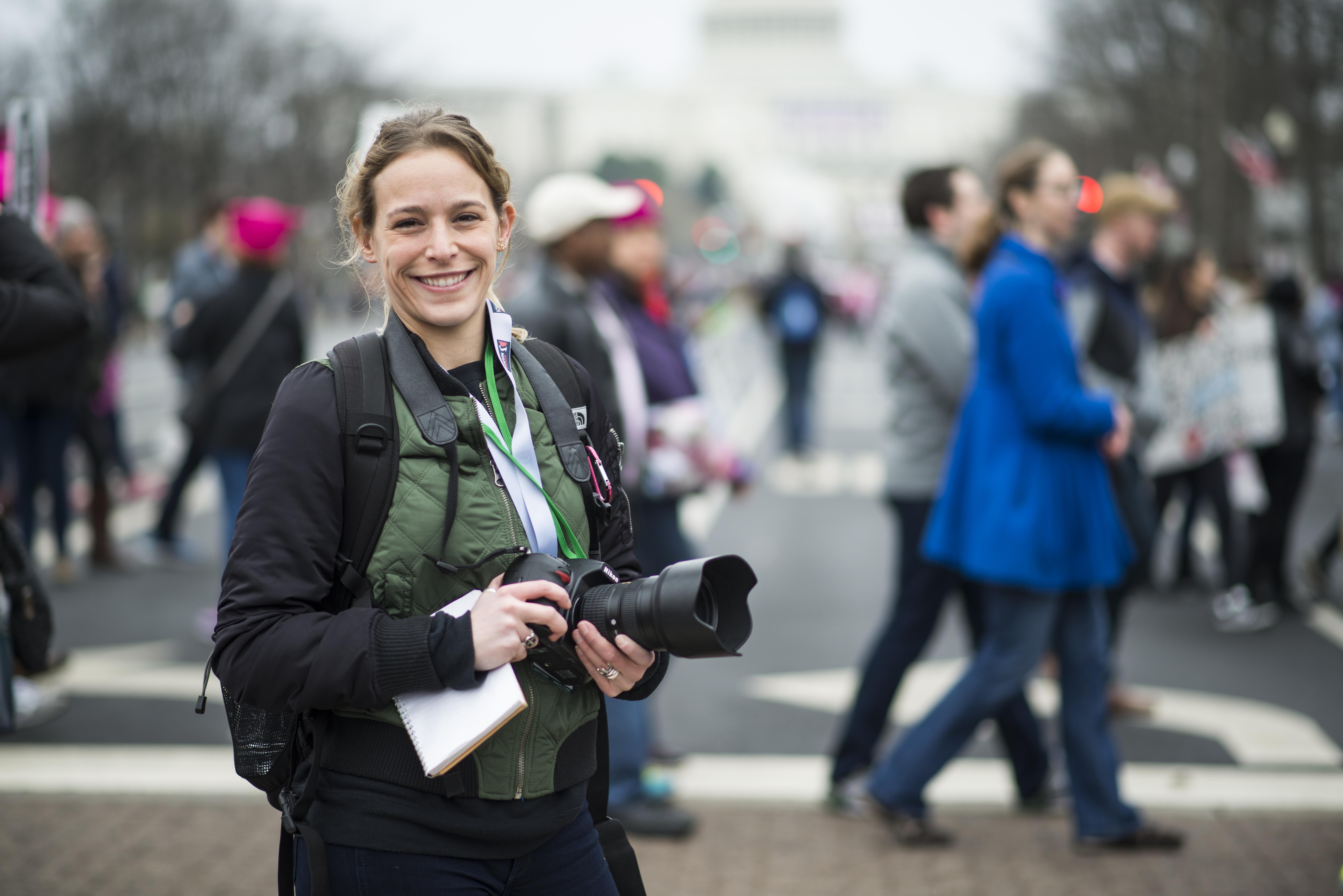 Alanna Vagianos covered the Women's March on Washington on Saturday, Jan. 21, 2017.